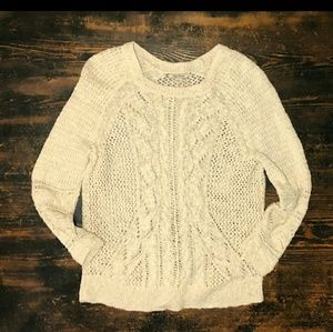 LUCKY BRAND OPEN WEAVE SWEATER
